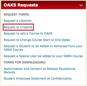 Crosslisting OAKS Courses