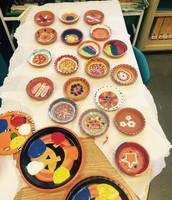 Diyas (clay lanterns) decorated by 3Q.