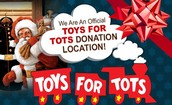 TOYS FOR TOTS DRIVE IS UNDERWAY AT DUNBAR!!