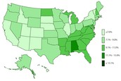 Prevalence in 2003 (Centers for Disease Control, 2014)