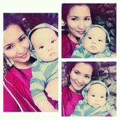 Айжан,  с нашим сыном Абильмансуром