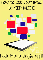 "**1.  Need to lock your students into just one app?   Here's how:  Click on link to take you to my webpage.  Then look under ""iPad Tips and Tricks"" to view this and print it out."