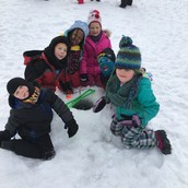 Our nature preK class went ice fishing last week at LakeFront