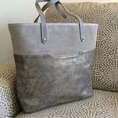 Hudson Tote Medium- Slate Grey -- $74