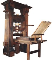 A printing press from 1450