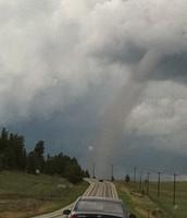 Tornado on the road!