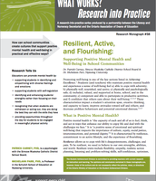 Resilient, Active, and Flourishing: Supporting Positive Mental Health and Well-Being in School Communities