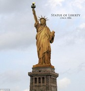 The Statue of Liberty's skin in made of copper!