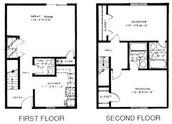 2 Bedroom 2 1/2 Bath Townhome