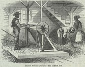 Cotton Gin, U.S. South, 1869      Source: Frank Leslie's Boy's and Girl's Weekly (Oct. 2, 1869), vol. 6, no. 154, p. 380 (Copy in Special Collections, University of Virginia Library)