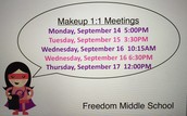 1:1 Meetings at Freedom Middle School