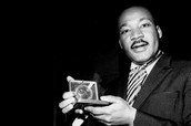 Martin Luther King with his Nobel Peace Prize.