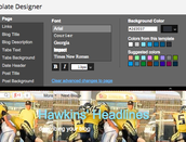 Advanced-change font size, color