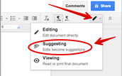 Google Docs Suggestion Mode