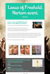 NERIUM MARKET PARTY AT LEXUS RAY CATENA IN FREEHOLD