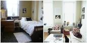 Compare Apartment to Dorm Rooms