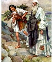 This is Abraham and his only son Issac that he sacrificed to God.