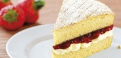 Classic Victoria Sponge Cake w/Fresh Strawberry Jam