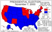 Election of 2000 map and popular vote count