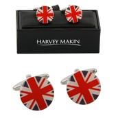 Harvey Makin union jack cufflinks