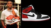 The Air Jordan 1's that Jordan was fined  5,000 dollars for every game he wore them, that didn't stop him.
