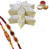 Rakhi with 500 Gms Kaju Barfi