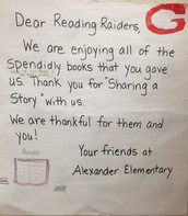 Thank you from Alexander Elementary
