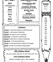 Weekly Language Arts Study Guide