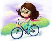 Me mucha fascinaba montar en bicicleta porque en aventurera.