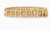 Arrison Stretch Bracelet - gold - $20