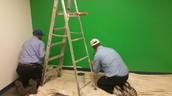 Painting Greenscreen Wall