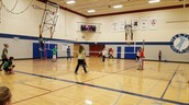 7th grade volleyball tourney at lunch