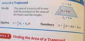 Formula to finding the 'area of a Trapezoid'