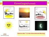 FORMAL GREETINGS 1