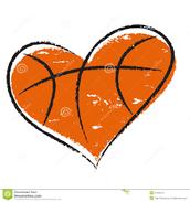 A basketball heart
