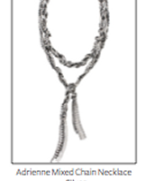 Adrienne Mixed Chain Lariat  Reg $118 ~ Sale $50