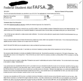 Student Aid Report (SAR) Example