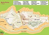 Map of awesome Machu Picchu
