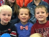 Ready to sing at the Veterans Day assembly.