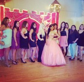 "My mom and her cousins at a ""Quince"""