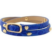Leather wrap - cobalt