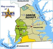 Map of Sabine County