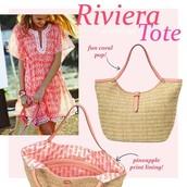 RIVIERA TOTE CORAL - $65