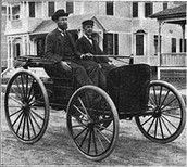 Charles  and Frank on the car