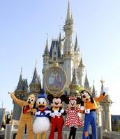 Pluto, Donald, Mickey, Minnie, Goofy