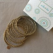 **SOLD** Bardot Spiral Bangle - Gold