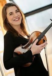 Nadja with her violin.