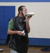 Mr. Schwartz enjoyed his pie!