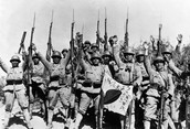 The Japanese troops
