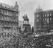 1918- (October) Poland Hungary and Czechoslovakia declare independence